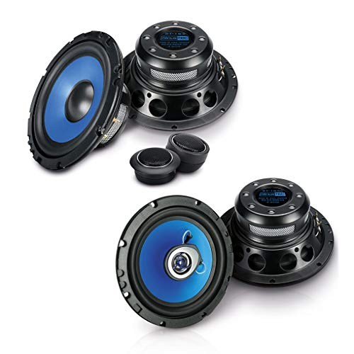 SINUSTEC Front/Heck 16,5cm/165mm Auto Lautsprecher/Boxen/Speaker Komplett-Set kompatibel für VW Volkswagen