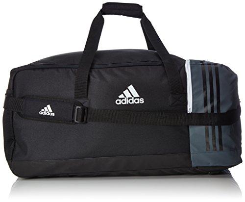 adidas Tiro Team Sporttasche B46124, Mehrfarbig (Black/Dark Grey/White), 27 x 61 x 28cm (Large)