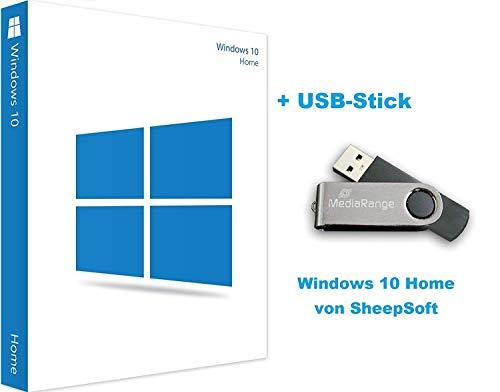 Windows 10 Home | Key + USB Stick | 32/64-Bit Lizenzschlüssel von SheepSoft