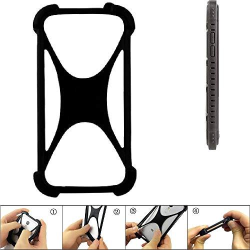 K-S-Trade Handyhülle für Cyrus CS 35 Schutz Hülle Silikon Bumper Cover Case Silikoncase TPU Softcase Schutzhülle Smartphone Stoßschutz, schwarz (1x)