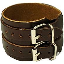 Casual cinturino in pelle nero bianco marrone - Gioielli Cinturino In Pelle Nera