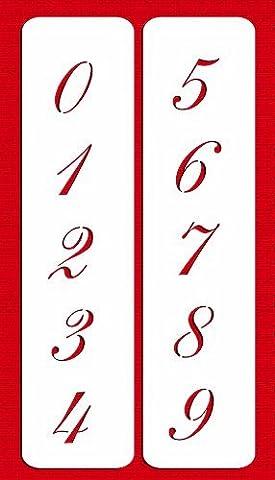 Designer Schablonen C1435,7cm Script Zahlen Kuchen Schablonen, beige/halbtransparent
