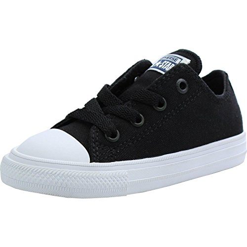 Converse Chuck Taylor All Star II Ox Black Textile Baby Trainers