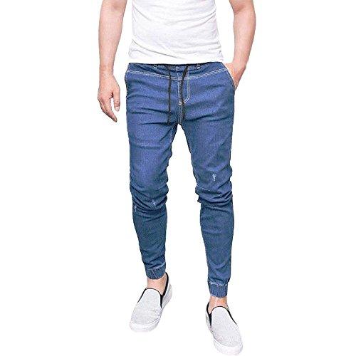 145611f0e7cd6 Celucke Röhrenjeans Herren Jeans Kordelzug Enge Manschetten Vintage Comfy  Denim Hosen