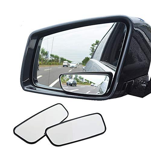 Blind Spot Spiegel, AOLVO Square HD Glas konvex Rückspiegel für alle Universal Fahrzeuge Car Fit Aufklebbarer Design 2Stück Square Glas
