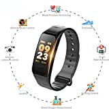 Fitness Armband Uhr Mit Pulsmesser Wasserdicht IP67 Fitness Tracker Aktivitätstracker Pulsuhren Smartwatch Fitness Uhr Schrittzähler Armbanduhr Mit Schlafmonitor Kalorienzähler Vibrationsalarm Anruf SMS