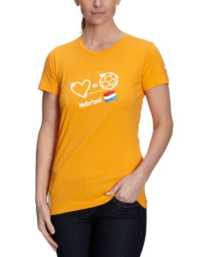PUMA Damen T-Shirt Love=Football Country flame orange-holland
