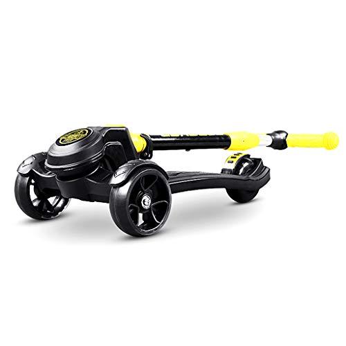 Dreiradscooter Scooter Kick Scooter für große Kinder & Kleinkinder Mädchen oder Jungen, höhenverstellbar mit extra Breiten Plattform PU blinkende Räder, Unterstützung 120kg - Fahrt Auf Spielzeug Elektro-mädchen