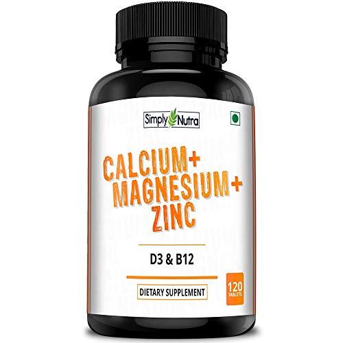 Simply Nutra Calcium, Magnesium, Zinc, D3 & B12 Tablets - 120 Tablets