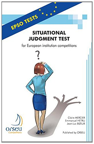 Situational Judgment Test for European institution competitions par Claire Mercier