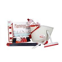 Flamingo Set De Limpieza 7 En 1, Rojo/Gris Claro, 10 cm