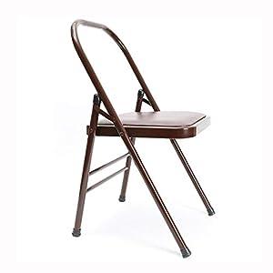 NSC Yoga Verstärkte Yoga-Stuhl Vintage Yoga Seat Fitness-Accessoires,Brown