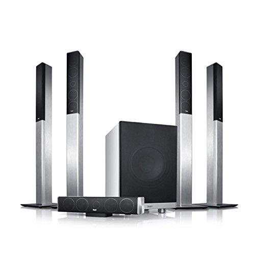 """Teufel LT 4 \""""5.1-Set L\"""" - Heimkino-Lautsprecher-Set mit Aluminium-Säulen in HiFi-Qualität"""