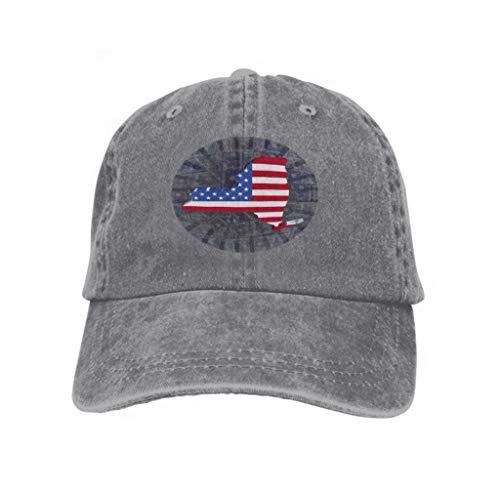 Kostüm Dollar König - Unisex Adjustable Mesh Caps Snapback Hat New York map Flag Dollars Currency Sunburst Background