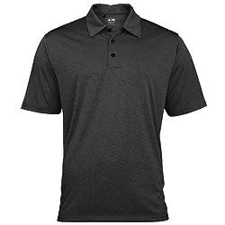 Adidas Golf Climalite Mens Heather Polo Shirt (S) (Black Heatherwhite)