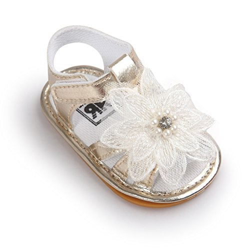 8cbb30e002602 Bebé Prewalker Zapatos Auxma Baby Infant Girls Cuero Flor Cuna Suela ...