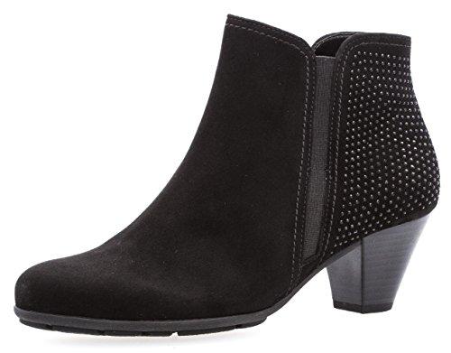 Gabor Damen Ankle Boots 75.641,Frauen Stiefel,Ankle Boot,Halbstiefel,Damenstiefelette,Bootie,knöchelhoch,Blockabsatz 5cm,F Weite (Normal),Schwarz,UK 6,5