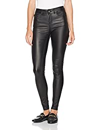 Pieces Pcfive Coated Mw Skn Jns Blk Tb/Noos, Jean Skinny Femme