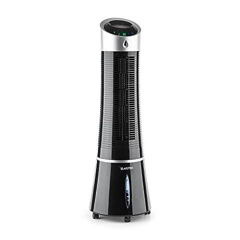 Klarstein Skyscraper Ice ventilateur 4-en-1 (humidificateur, filtre à air, 3 niveaux de vitesse, consommation économique, débit d'air de 500 m³/h) -