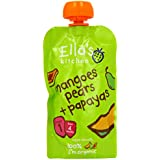 Ella's Kitchen Mangoes/ Pears and Papayas 120 g (Pack of 7) (Organic)