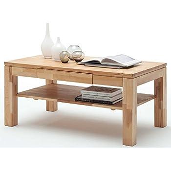 Couchtisch Holz Massiv Buche mit Schublade Massivholz Wohnzimmer ...