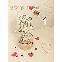 Personalisierte Geschenke für Hochzeit, Geburtstag, Liebe, Familie zu allen Anlässen, originelle Geschenkidee, Skulpturen, Drahtskulptur, Figuren