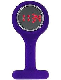 Boxx Led Digital Purple Rubber Infection Control Nurses Fob Watch