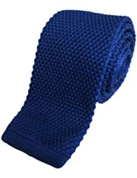 Royal Blue Skinny Knitted Tie