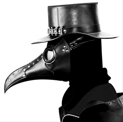 dhude Steampunk Plague Beak Maske Latex-Maske Halloween Maske Geschenke Für Männer Seltsame Spielzeug Fancy Dress Kostüm-zubehör, Unisex-Erwachsene, Eine ()
