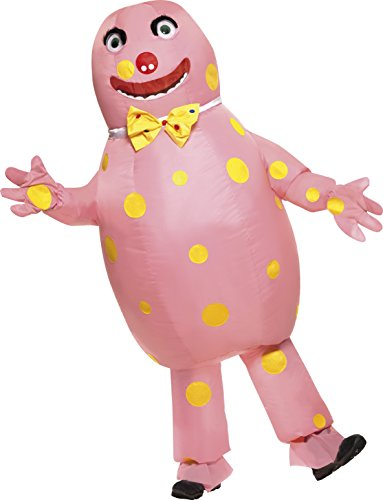 Adults Unisex Mr Blobby Inflatable Suit with Gloves. Become the crazy pink character from Noel's House Party