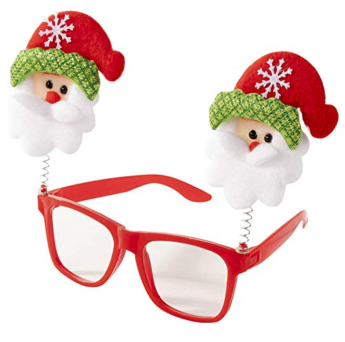 masti zone 1 Pcs Christmas Eyeglasses/Goggles Glitterl Merry Christmas Xmad Party Accessories Props Party Favors Adult and Kids Christmas Gift for Kids