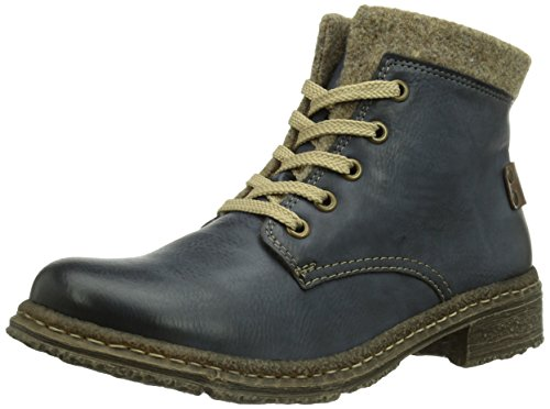 Rieker 74214 Damen Kurzschaft Stiefel, blau (ozean/mogano/wood/14), 42 EU (8 Damen UK)