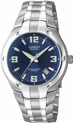 CASIO EF-106D-2AVEF Edifice - Reloj de caballero de cuarzo, calendario, correa de acero inoxidable
