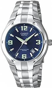 Casio -EF-106D-2AVEF -Gents Watch Analogue Quartz - Stainless Steel Silver Strap
