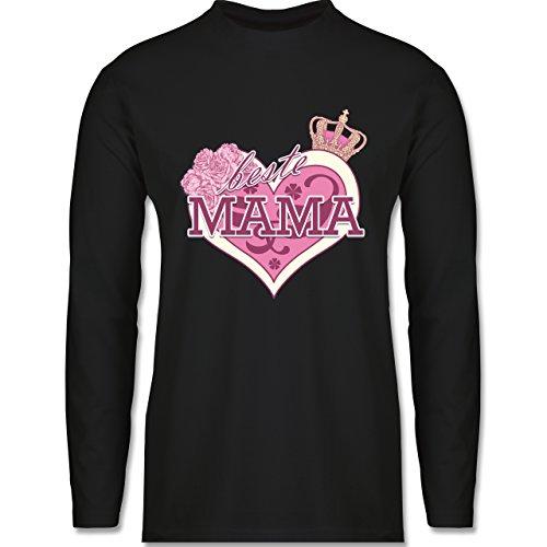 Statement Shirts - Beste Mama - Longsleeve / langärmeliges T-Shirt für Herren Schwarz