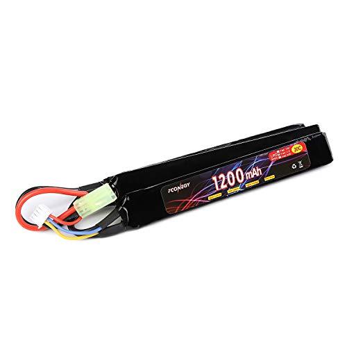 FCONEGY RC Akku 3S 11.1V 1200mAh 20C Triple Pack Lipo Batterie für RC Gun/Airsoft Gun