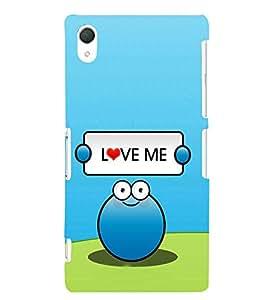 EPICCASE Love Me Mobile Back Case Cover For Sony Xperia Z2 (Designer Case)