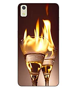 Case Cover Glass Printed Yellow Soft Back Cover For LYF WATER 8