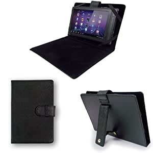 "Time2® NEW 7"" Inch Leather Look Case (WITH STAND) For Protection Of Your 7"" Tablet PC Pad Device."