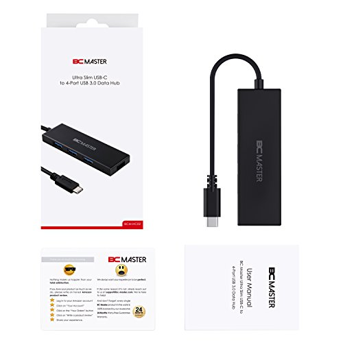 BC Master Hub USB 3.0 4 Porte convertitore Dati con indicatore LED per Chromebook Pixel, New MacBook, etc