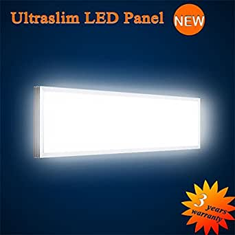 mextronic led panel deckenpanel wandpanel ultraslim led panel wei 3300lm 40w 15x90cm dimmbar. Black Bedroom Furniture Sets. Home Design Ideas