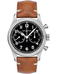 0653d3c11162 Montblanc 1858 Reloj de Hombre automático 42mm Correa de Cuero 117836