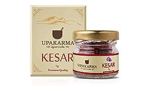 UPAKARMA Pure, Natural and Finest A++ Grade Kashmiri Kesar / Saffron Threads 1 Gram- Pack of 1