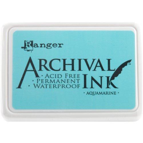 Ranger Aquamarin Archival Ink Pad Aquamarin Archival Ink Stempelkissen, Blau blau -