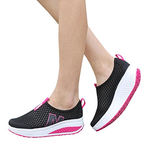Elecenty scarpa da donna alla moda Scarpe da donna Mocassini Traspirante Air Mesh Swing Wedges Shoe Scarpe da Corsa Scarpe da ginnastica per donna