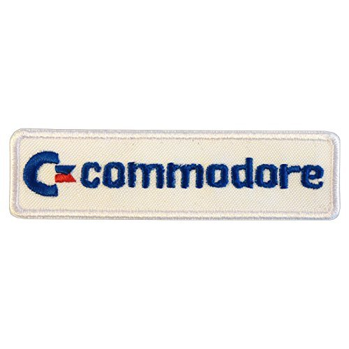 Commodore Vintage Retro Games Computer Amiga C64 Logo Embroidered Touch Fastener Patch