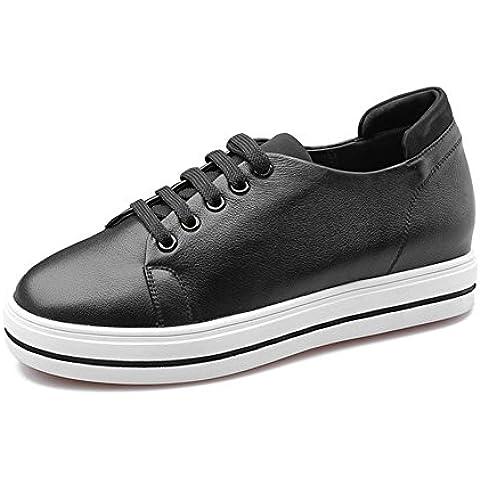 LYF KIU Primo strato di pizzo scarpe di cuoio rotondo/Sport e tempo libero scarpe