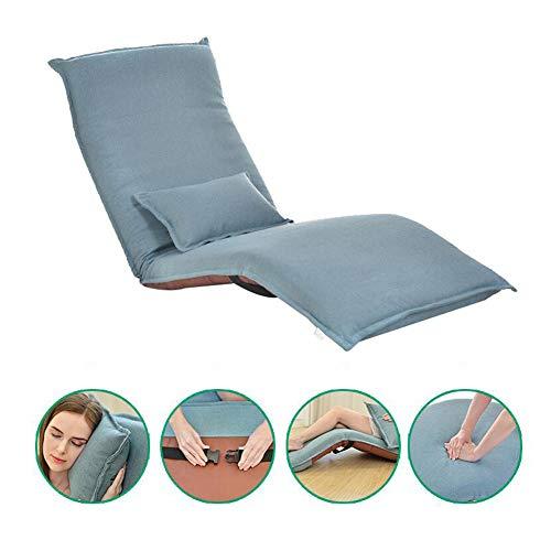 Z@SS Canapé Pliant Chaise Longue Lit en Mousse,Ajustable Fauteuil De Sol Relaxant/Gaming Chaise pour Lire Et Dormir