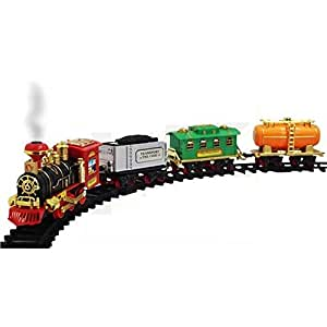 Aastha Enterprise Battery Operated ChooChoo Train Toy Track Set for Kids with Light & Sound and Real Smoke Simulation