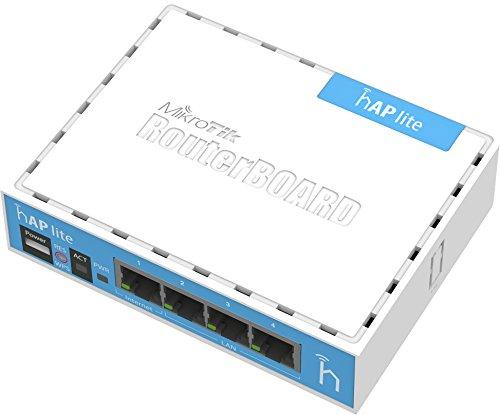 Mikrotik hAP Lite Intern, Weiß WLAN-Zugangspunkt für lokale Netze–WLAN- Zugangspunkt für lokale Netze (10,100Mbit/s, 32MB, QCA9531650MHz, 1,5dBi, 3W, Weiß).